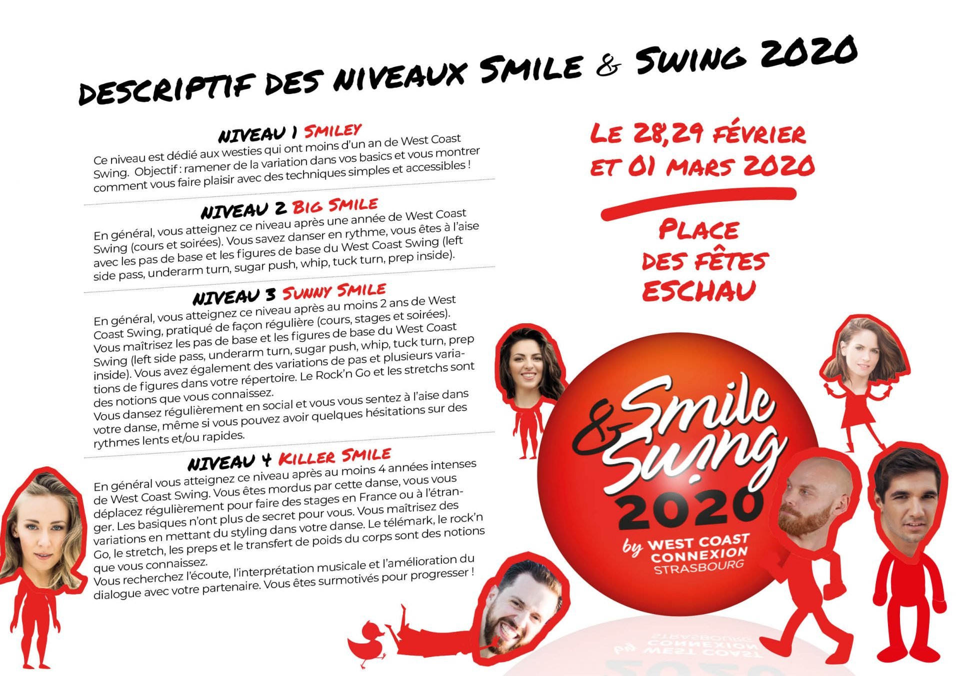 Description des niveaux du Smile & Swing 2020